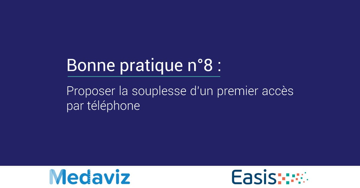 Image de couverture de: Bonne pratique numéro 8 : Proposer la souplesse d'un premier accès par téléphone