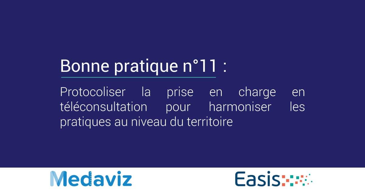 Image de couverture de: Bonne pratique numéro 11 : Protocoliser la prise en charge en téléconsultation pour harmoniser les pratiques au niveau du territoire